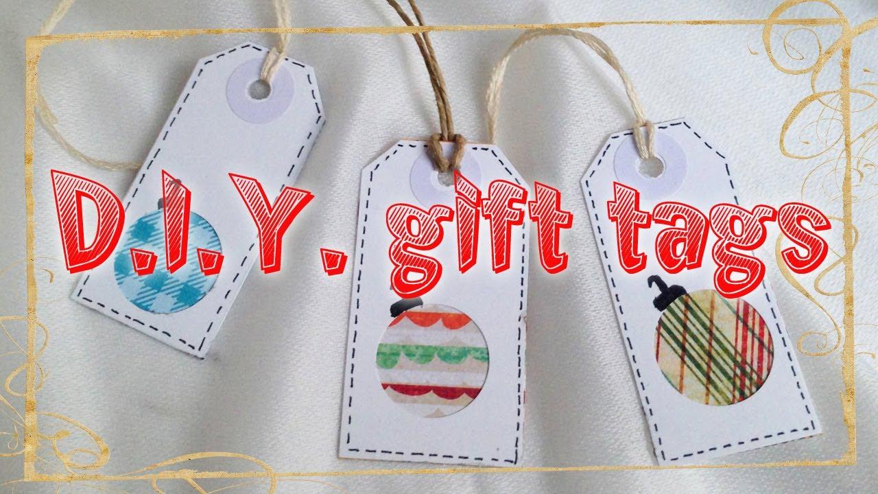 Amato D.I.Y. gift tags ❄ Etichette fai da te - YouTube WA06
