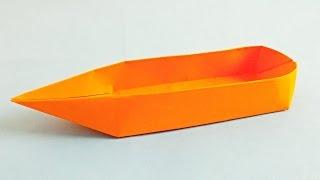 Как сделать лодку из бумаги. Оригами лодка. лодочка своими руками. Origami boat