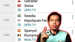 Jadwal Bola hari ini live jadwal tv | kualifikasi piala Eropa 2020