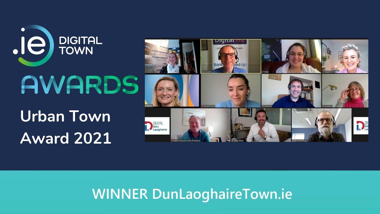 Our 'Digital First Communities' model underpins #DunLaoghaireTown win at .IE DIGITAL TOWNS Awards