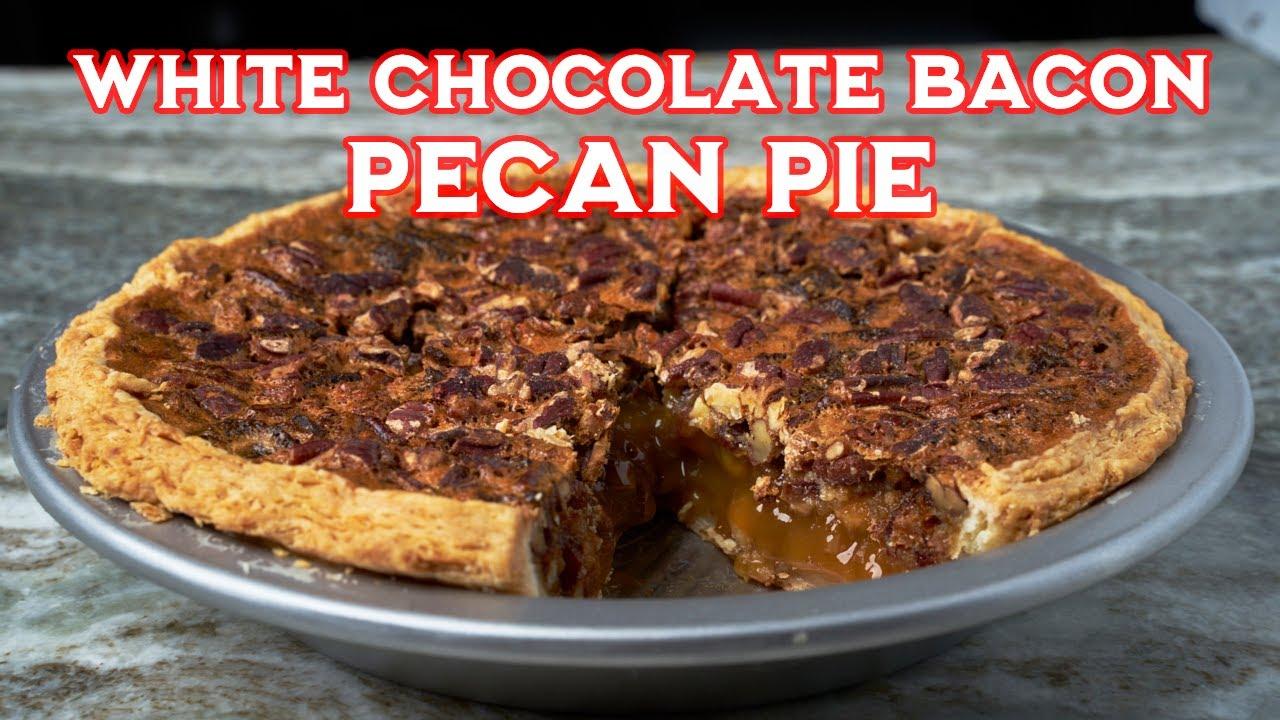 White Chocolate Bacon Pecan Pie