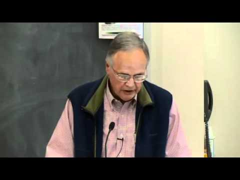 "Gus Speth, lecture, ""Liberalism, Environmentalism, and Economic Growth,"""