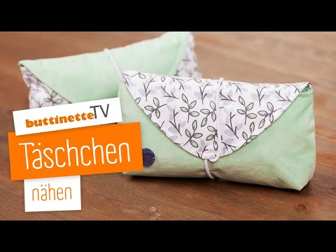 Video: Täschchen nähen | Nähset | buttinette TV [DIY]