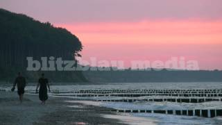 Stock Footage Europe Germany Baltic Sea Heiligendamm Mecklenburg Ostsee Sunset Beach Strand Travel