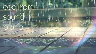 【10Hours】 softy Piano + Rain Sound~ Studying & Resting 잔잔하고 편안한 피아노 + 빗소리 10시간(중간광고없음)