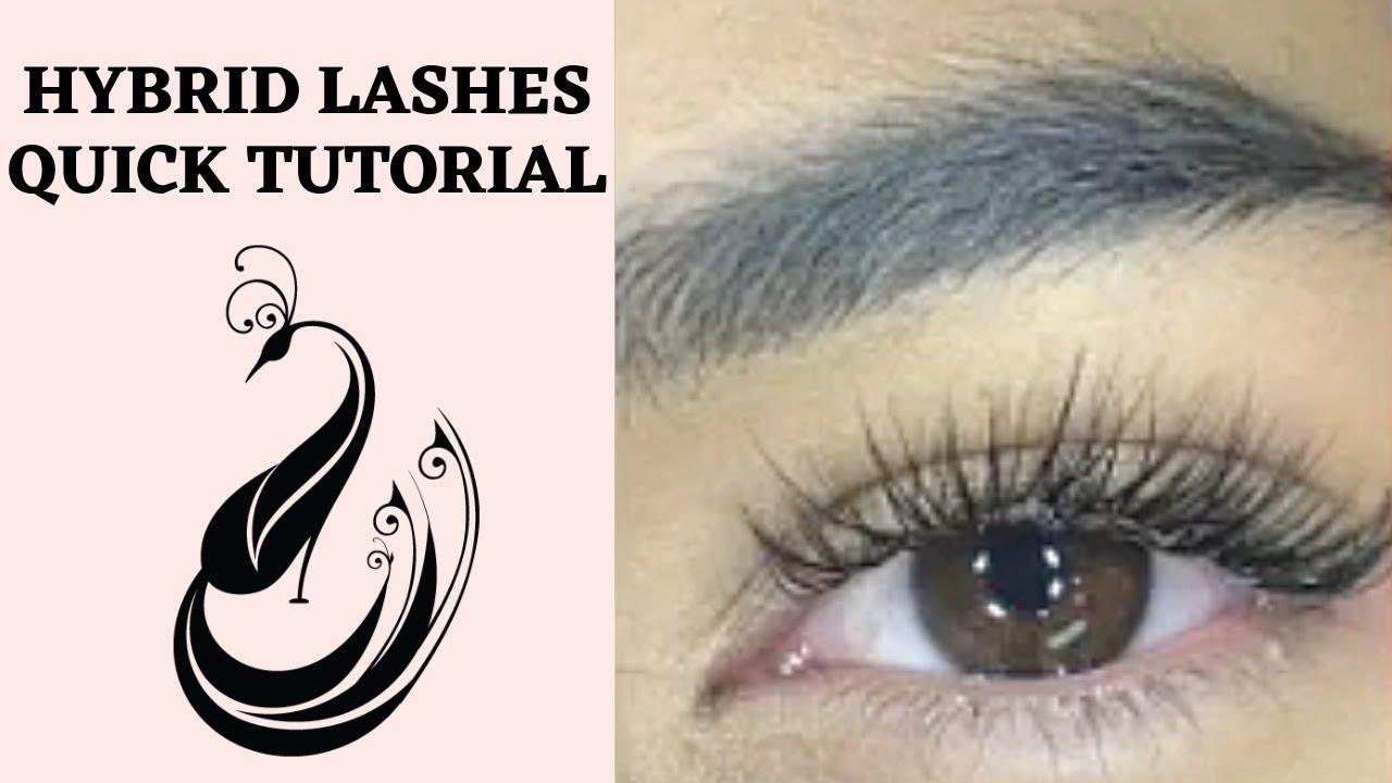 2995edb6e44 How to do Hybrid Eyelash Extensions? | Eyelash Extensions 101 - YouTube