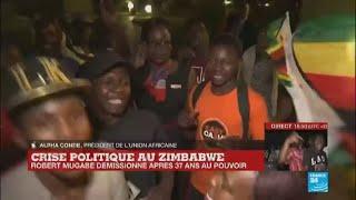 Démission de Mugabe :