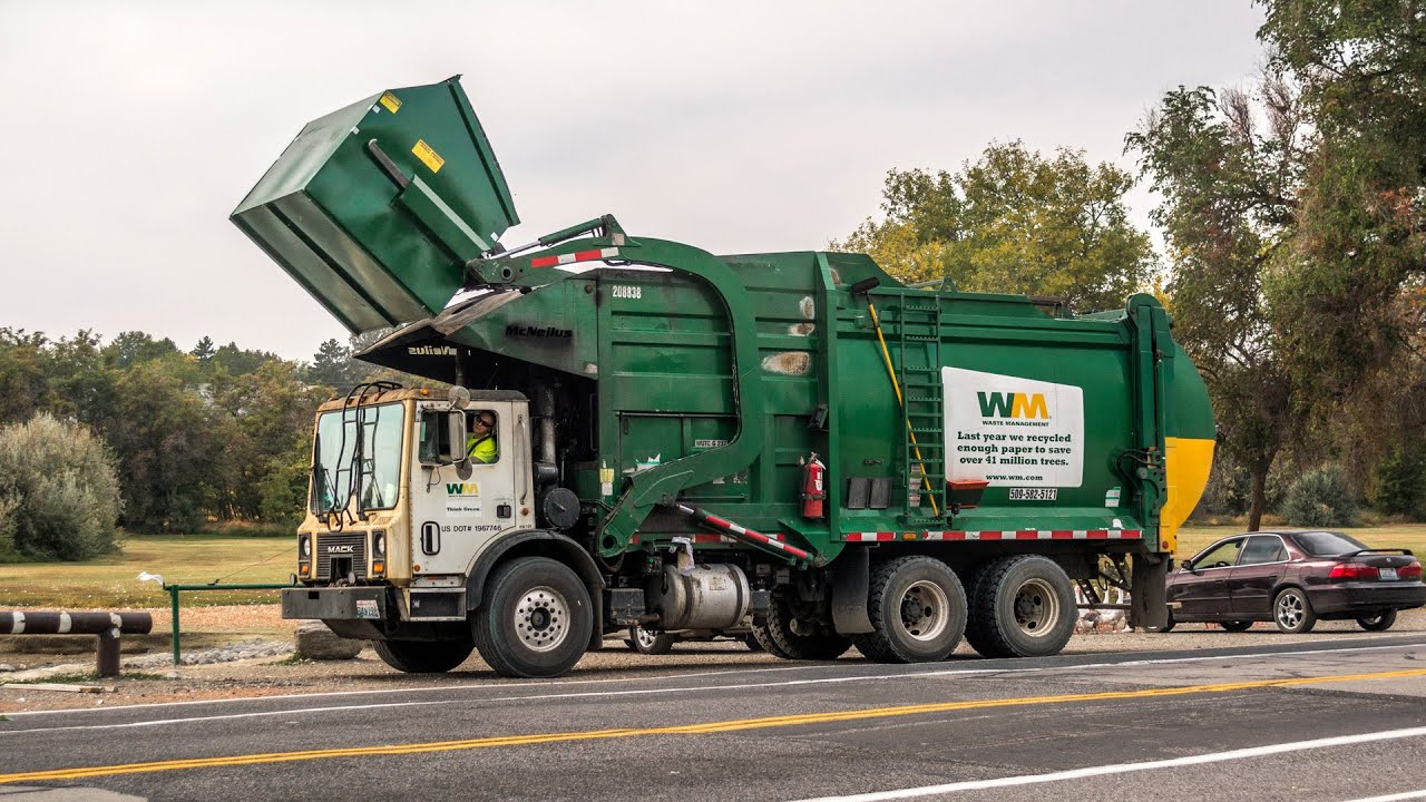 Image result for front loading garbage truck