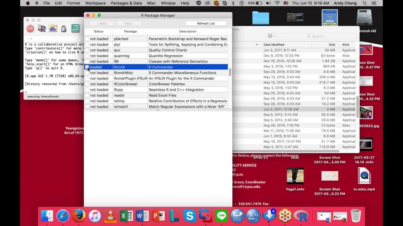 r commander download mac