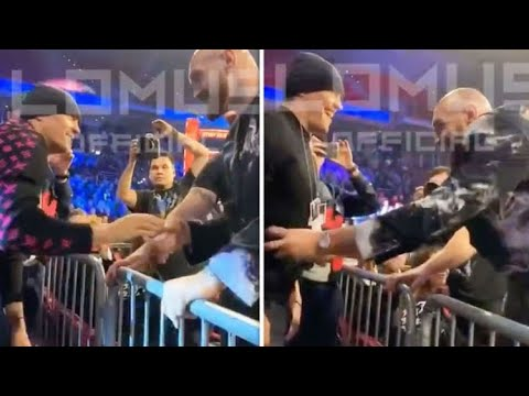 Download When TYSON FURY & USYK MET for the FIRST TIME   FURY SIZED UP USYK AND LAUGHED IT OFF
