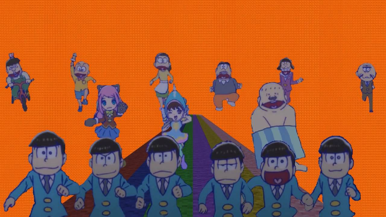 Minecraftでおそ松さん 全力バタンキュー 高画質var Youtube