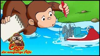 Coco der Neugierige 🐵104 Der Boots Wettbewerb 🐵 Ganze Folgen 🐵 Cartoons für Kinder🐵Staffel 1