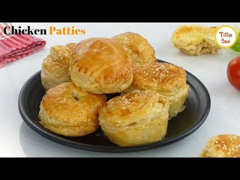 Chicken Patties Recipe Without Oven - Chicken Puff Pastry By Tiffin Box   Easy Snacks For Kids