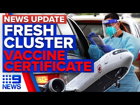 New cluster in Sydney's inner-west, overseas travel vaccination certificate plans | 9 News Australia thumbnail