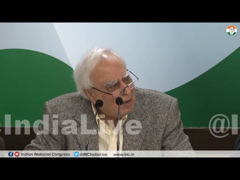 AICC Press Briefing By Kapil Sibal at Congress HQ on Modi Lies To Supreme Court