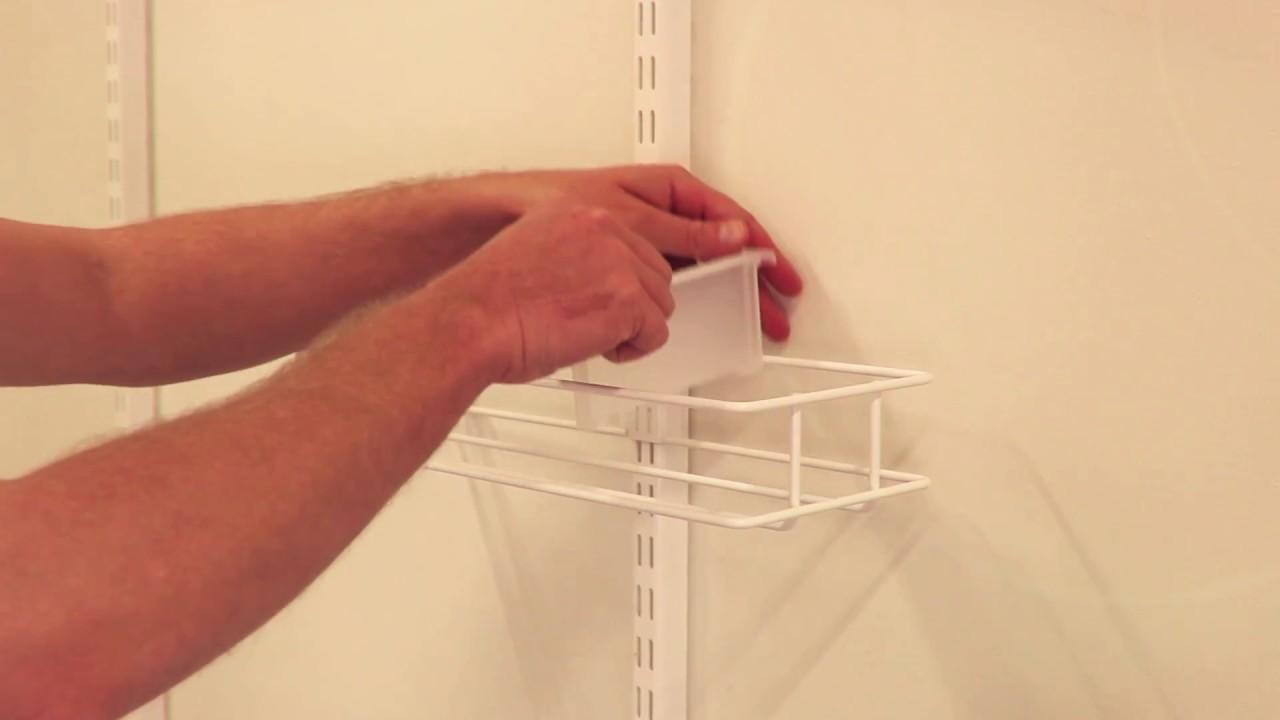 elfa assembly instruction door and wall rack media rack