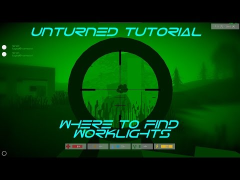 Unturned: Where To Find Worklights (Light Source)
