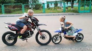 Подарили Топовый Pitbike детский Питбайк ПОДАРИЛИ школьнику питбайк