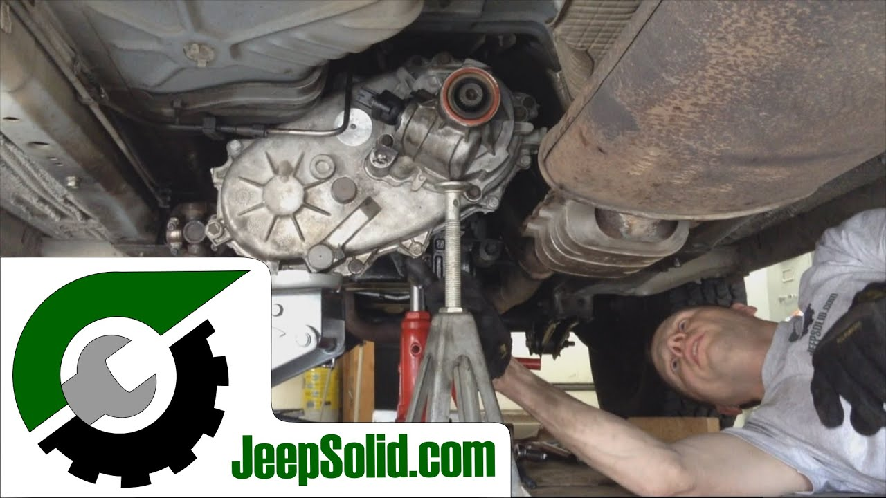 Transfer Case Parts >> Jeep Cherokee 249 transfer case swap: How to remove transfer case - YouTube