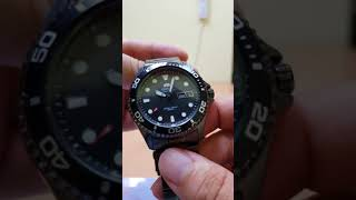 Orient Ray Raven II Automatic 200m Men's Black Stainless Steel FAA02003B9 unboxing video ေလးပါ❤❤❤