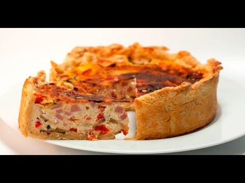 овощной пирог с ветчиной рецепт