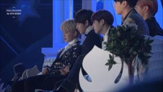 161119 melon music award 방탄소년단 bts reaction to ioi performance1