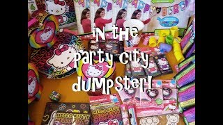 Dumpster Diving! ~ First Time in the Party City Dumpster!  Freeganism and Extreme Frugality!