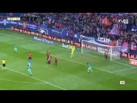 Increíble gol!! De messi  al Osasuna  La liga 10/12/2016