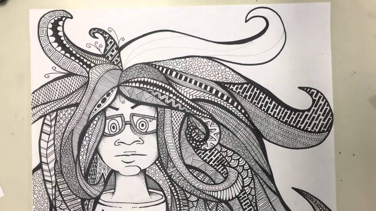 bad hair day zendoodle