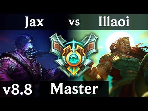 JAX vs ILLAOI (TOP) ~ Legendary, 1000+ games, KDA 15/2/4 ~ Korea Master ~ Patch 8.8