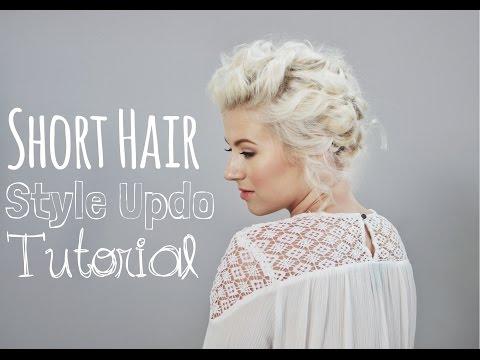 Short Hairstyle Up Do Tutorial Milabu Youtube