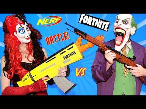 NERF FORTNITE Blasters vs LEGO BLASTERS - WHICH WILL WIN?