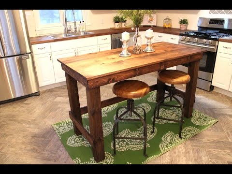 make a kitchen island space saving table the 20 easy diy project youtube