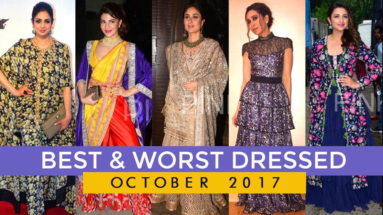 Katrina Kaif, Kangana Ranaut, Kareena Kapoor Khan: Best and worst dressed of the month October 2017