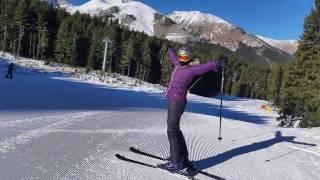 Bulgaria Skiing - Bansko. New Years Day 2017. Blue 10, first run down.