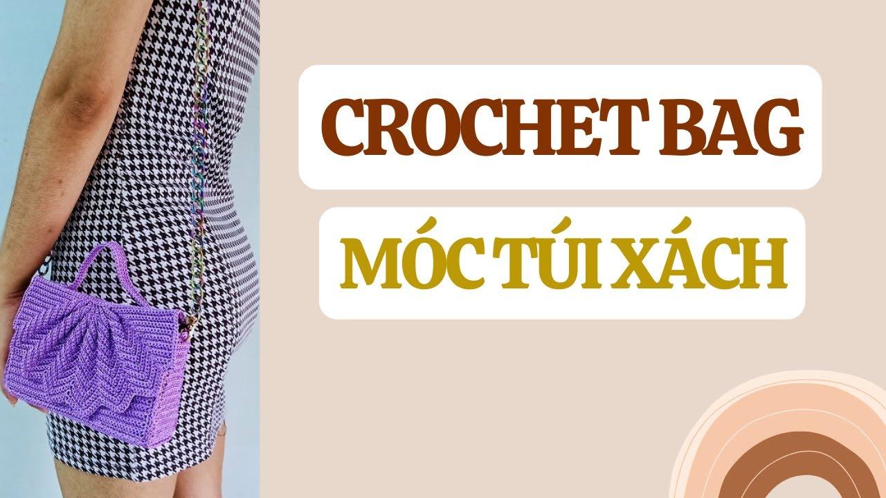 Hướng dẫn móc túi xách mini nắp con sò | Crochet bag | Bluesky Handmade
