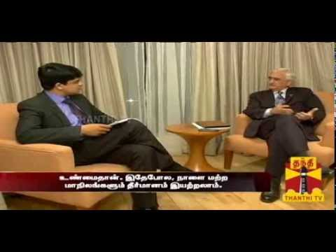Exclusive interview with Salman Khurshid Thanthi TV