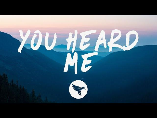 Heather Sommer - you heard me (Lyrics)