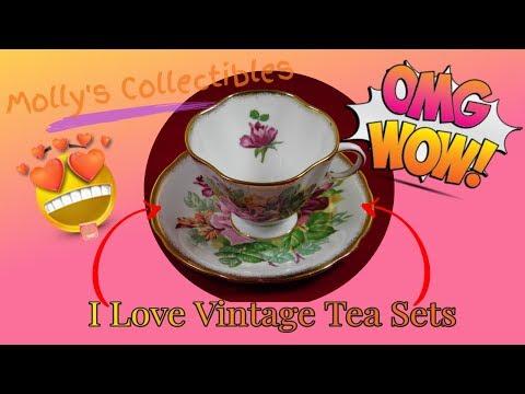 Vintage Tea Cups & Saucers | Collectible Tea Sets | Fine Bone China Tea Cups | Antique Tea Sets