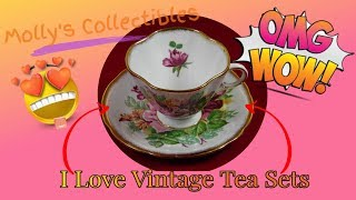 Vintage Tea Cups & Saucers | Collectible Tea Sets | Fine Bone China Tea Cups | Antique Tea Sets