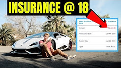My Insurance COSTS Of Owning A LAMBO At 18