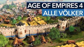 Age of Empires 4 startet mit sehr unterschiedlichen Völkern
