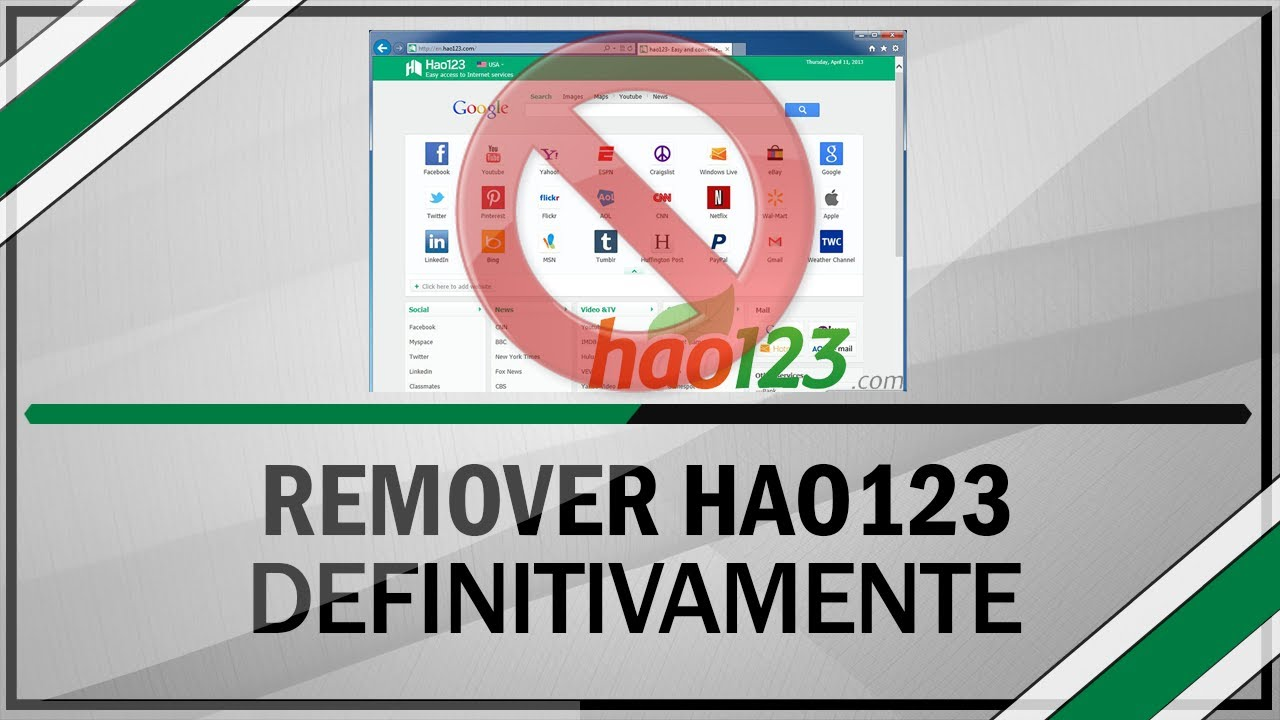 "[Tutorial] Como ""Remover Hao123"" definitivamente do meu Computador"