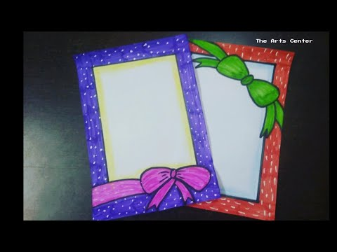 Easy Ribbon draw/Border design on paper/Designs for front page/border for project by The Arts Center