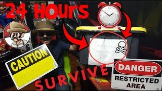 DANGER!! 24hr OVERNIGHT SURVIVAL CHALLENGE TRAPPED In Carls Shop!! Our Most DANGEROUS Video Ever!!