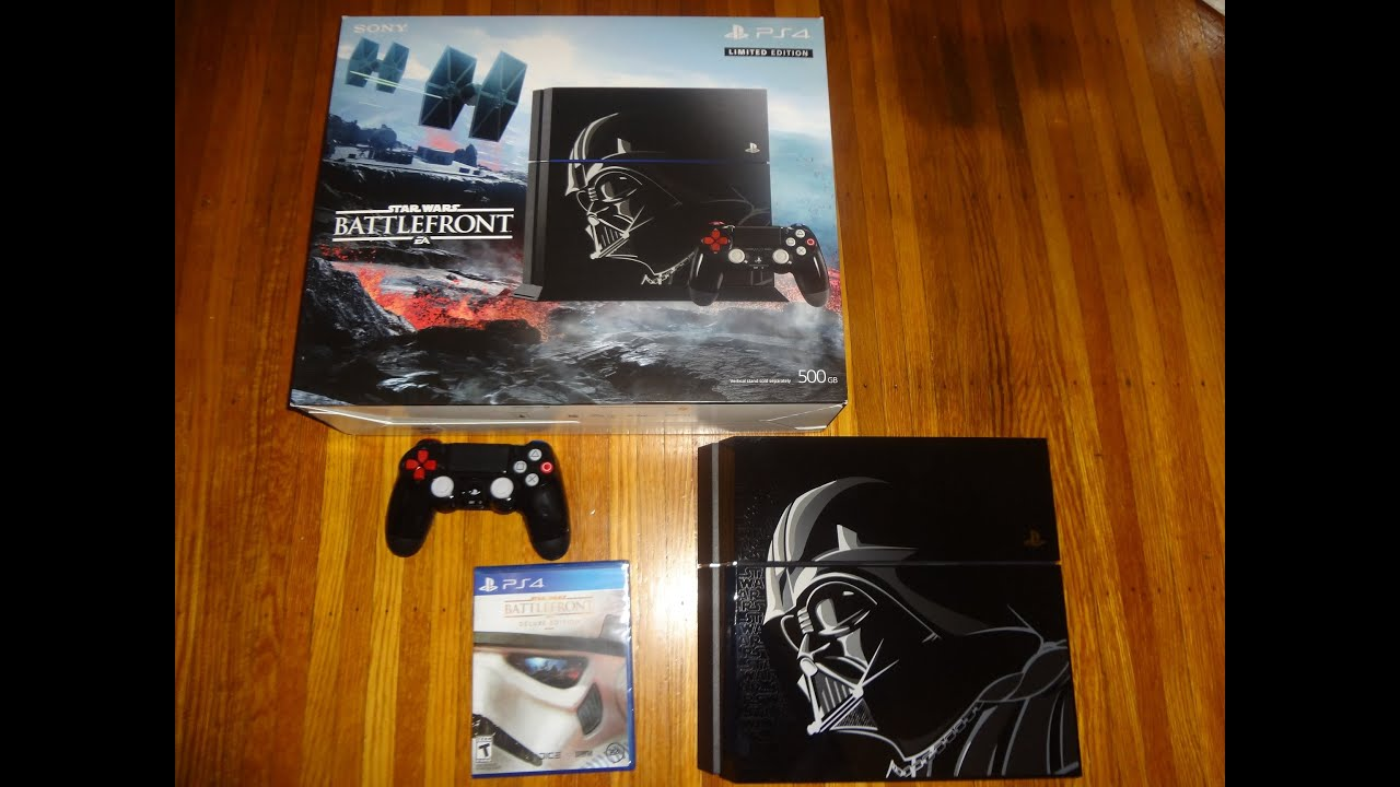star wars battlefront limited edition ps4 console unboxing. Black Bedroom Furniture Sets. Home Design Ideas