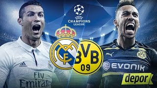 Real Madrid vs Borussia Dortmund - Champions League (en vivo) octavos de final