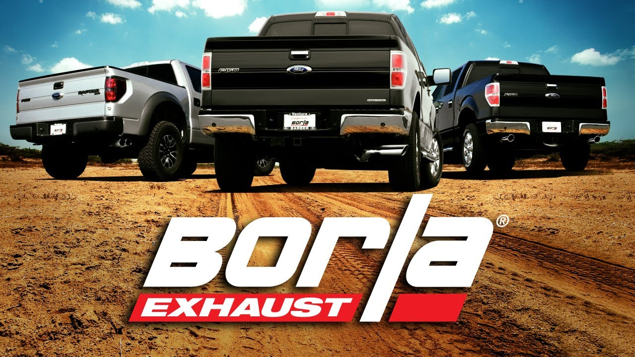 BORLA Exhaust for the 2011-2014 Ford Raptor, F-150 and EcoBoost - YouTube