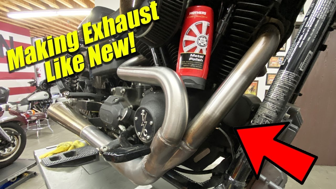 make your thrashin stainless exhaust look new