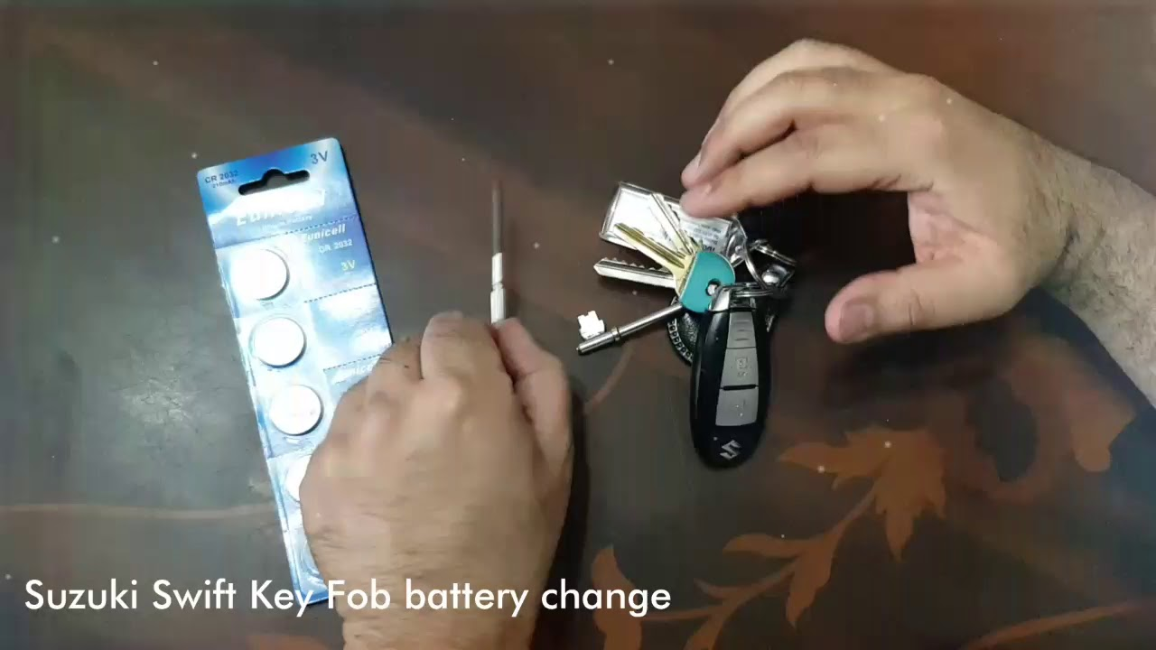 Suzuki Swift Key Fob Battery Change Youtube